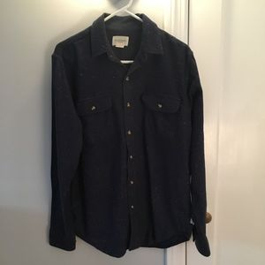 Obey  Blue Speckled Button Down Shirt